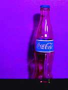 Coke Bottle Prints - Coca-Cola Coke - Painterly - Purple Print by Wingsdomain Art and Photography