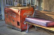 Coca-cola Signs Metal Prints - Coca cola Cooler Back In Time Metal Print by Bob Christopher