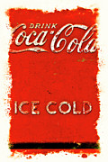 Antique Coke Sign Posters - Coca-Cola Cooler Poster by Stephen Anderson