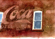 Coca-cola Sign Paintings - Coca Cola Delicious  by Jerry  Grissom