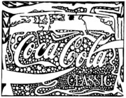 Maze Ad Mixed Media Prints - Coca-Cola maze advertisement  Print by Yonatan Frimer Maze Artist