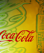 Kitsch Painting Posters - Coca Cola Pop Soda Poster by Marie Christine Belkadi