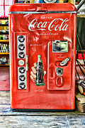 Machine Framed Prints - Coca-Cola retro style Framed Print by Paul Ward