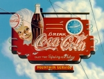 Clouds Prints - Coca Cola Print by Van Cordle