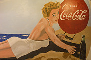 Coca-cola Signs Metal Prints - Coca Cola  Vintage Sign Metal Print by Bob Christopher