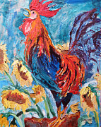 Suzanne Willis Metal Prints - Cockadoodledoo Metal Print by Suzanne Willis