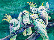 Solomon Paintings - Cockatoos by Zaira Dzhaubaeva