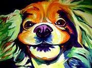 Alicia Vannoy Call Framed Prints - Cocker Spaniel - Cheese Framed Print by Alicia VanNoy Call