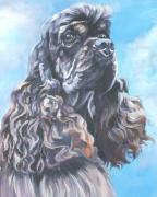 Cocker Spaniel 2 Print by L A Shepard