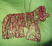 Copper Wire Sculpture Acrylic Prints - Cocker Spaniel Acrylic Print by Charlene White