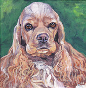 Spaniel Puppy Paintings - Cocker spaniel by Lee Ann Shepard