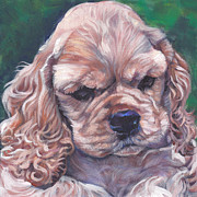 Spaniel Puppy Paintings - Cocker spaniel puppy by Lee Ann Shepard