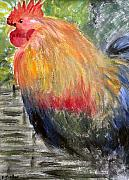 Cockerel Paintings - Cockerel by Barbara Giordano
