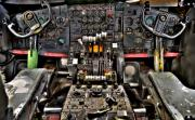 Airplane Prints - Cockpit Controls HDR Print by Kevin Munro