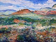 Enver Larney Art - Cockscomb Butte Sedona Arizona USA 2003  by Enver Larney