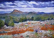 Enver Larney Art - Cockscomb Butte West Sedona Arizona USA 2002  by Enver Larney