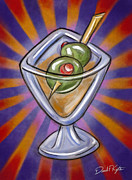 David Kyte Framed Prints - Cocktail with Olives  Framed Print by David Kyte