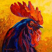 Chickens Paintings - Cocky - Rooster by Marion Rose