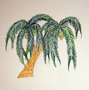 Nuts Mixed Media - Coco-Palm Duo by Daniel Goodwin