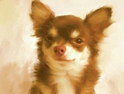 Puppy Mixed Media - Coco puff by Donna Johnson
