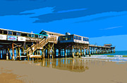 Emporium Photos - Cocoa Beach Pier  by Allan  Hughes