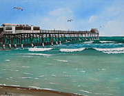 Tiki Bar Painting Prints - Cocoa Beach Pier Print by Bruce Reigle