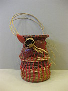 Raffia Sculptures - Coconut Bud by Beth Lane Williams