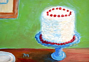 Interior Still Life Painting Metal Prints - Coconut Cake Metal Print by Marianne Beukema