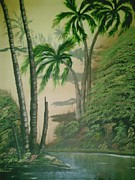 Coconut Trees Paintings - Coconut Grove by Jim Saltis
