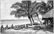 Asian Workers Framed Prints - Coconut Rope Production, 19th Century Framed Print by