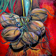 Contemporary Art Originals - Coconuts by Patti Schermerhorn