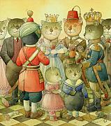 Cats Prints - Coctail Party Print by Kestutis Kasparavicius