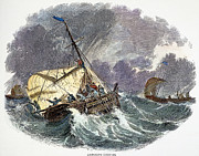 Cod Fishing In New England Print by Granger