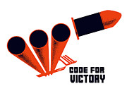 Artillery Mixed Media Posters - Code For Victory Poster by War Is Hell Store
