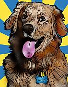 Retriever Mixed Media Posters - Cody Poster by Bibi Romer