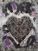 Hunger Mixed Media Prints - Coeur Obscursi Print by Arnuda