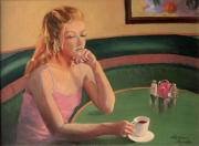 Contemplative Paintings - Coffee and Contemplation by Roxanne Rodwell