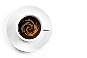 Bubbles Prints - Coffee and cream Print by Gert Lavsen