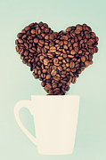 Coffee Mug Prints - Coffee Beans Print by Elias Kordelakos Photography