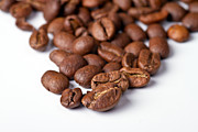 Material Prints - Coffee beans Print by Gert Lavsen
