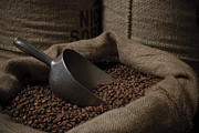 Tasting Photos - Coffee Beans In A Sack With Metal Scoop by Buero Monaco
