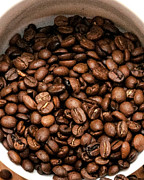 Java Prints - Coffee Beans Print by Jack Scicluna