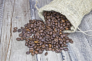 Coffee Drinking Photo Posters - Coffee beans Poster by Joana Kruse