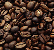 Color Photography Posters - Coffee beans Poster by Kristin Kreet