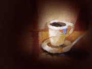 Java Paintings - Coffee Canvas by Lutz Baar