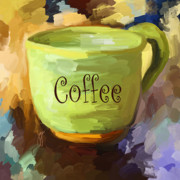 Coffee Painting Framed Prints - Coffee Cup Framed Print by Jai Johnson