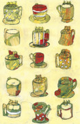 Art-deco Prints - Coffee for Fifteen Print by Jennifer Lommers