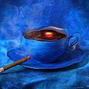 Cigar Metal Prints - Coffee for Mister Klein Metal Print by Floriana Barbu