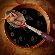 Gold  Digital Art - Coffee for Mister Klimt by Floriana Barbu