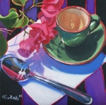 Cofee Framed Prints - Coffee for One Framed Print by Rivkah Singh